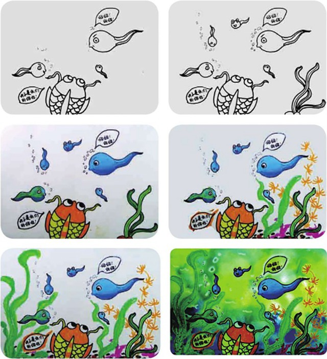 小蝌蚪找妈妈绘画步骤图