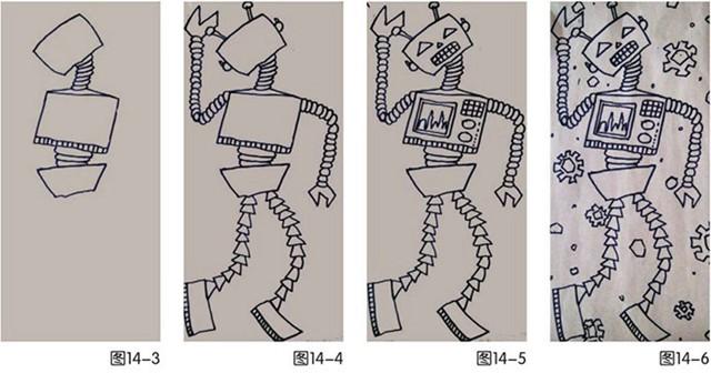 机器人儿童绘画步骤