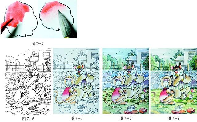 水彩(工笔画风格)创意卡通画