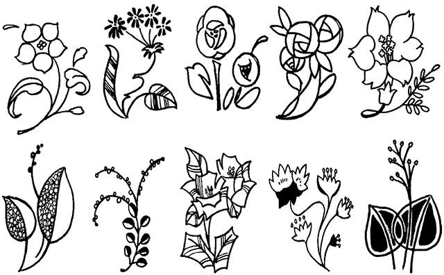 简笔画图例-植物