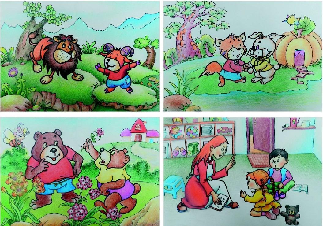 彩色铅笔创意卡通画图片欣赏