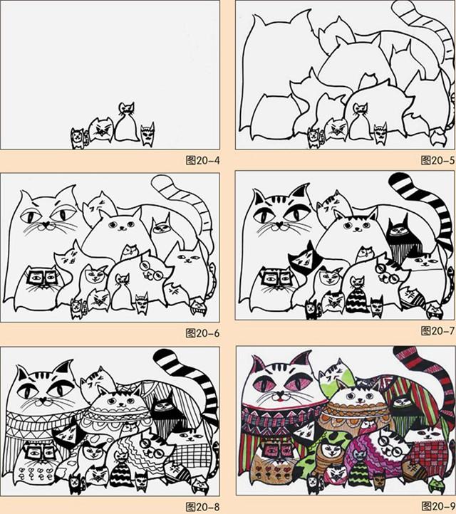 猫的绘画步骤图