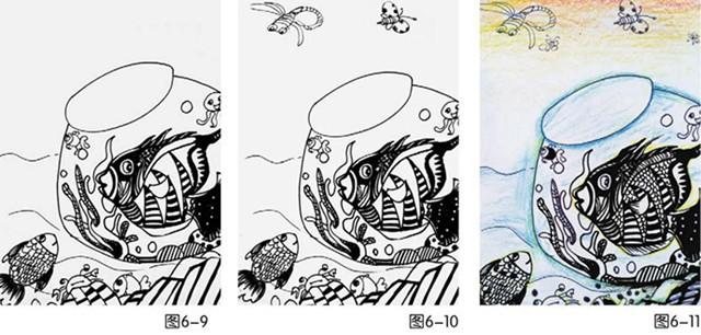 鱼缸绘画步骤图