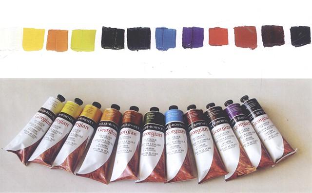 画油画猫所用的颜色