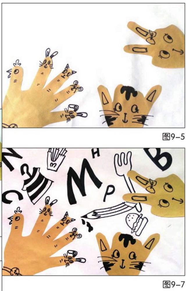 神奇的小手绘画步骤图
