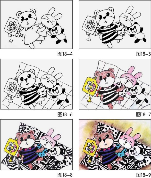 玩具绘画步骤图