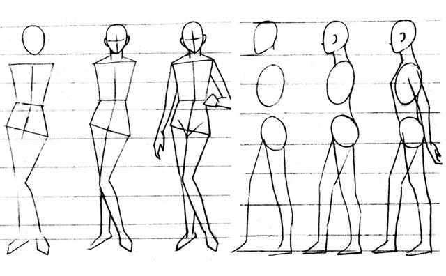 全身人物略写的画法步骤
