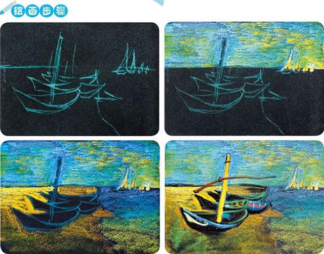 岸边的船绘画步骤图