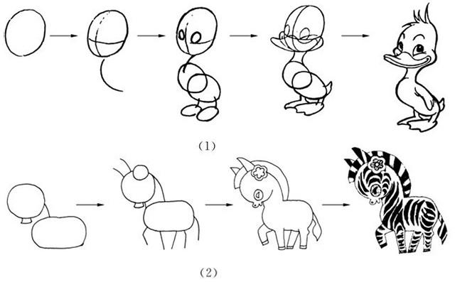 单个动物的画法步骤