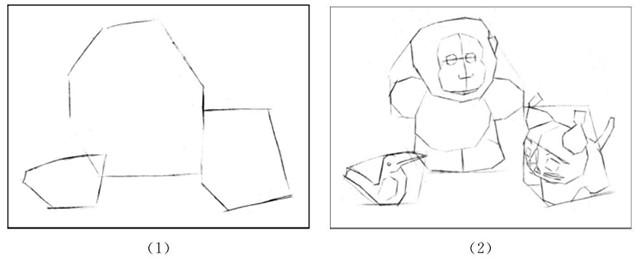 玩具组合的画法步骤