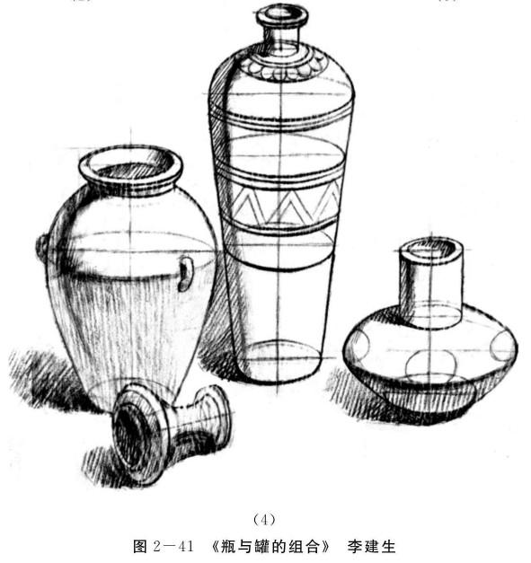瓶与罐的组合的画法步骤