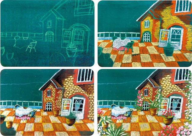 房子绘画步骤