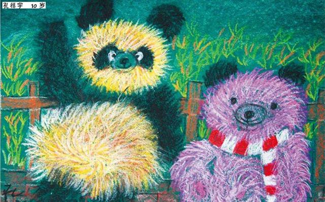 玩具熊绘画作品