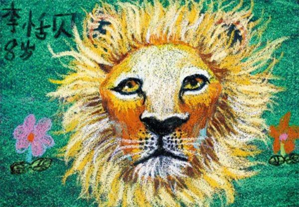 狮子绘画作品
