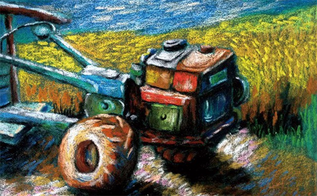 拖拉机绘画步骤