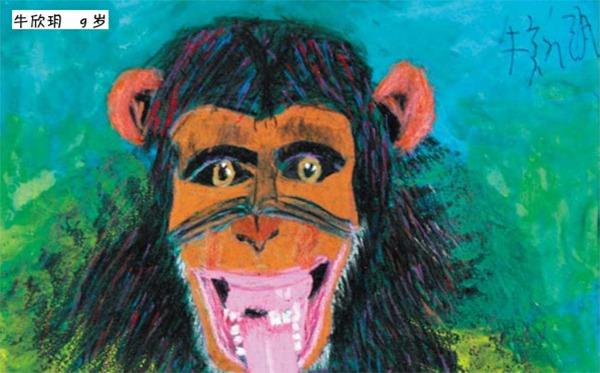 猩猩绘画作品