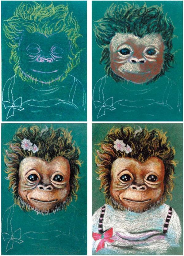猩猩绘画步骤图