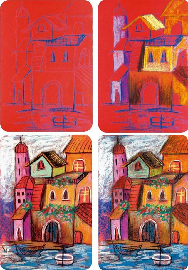异国风情建筑绘画步骤图