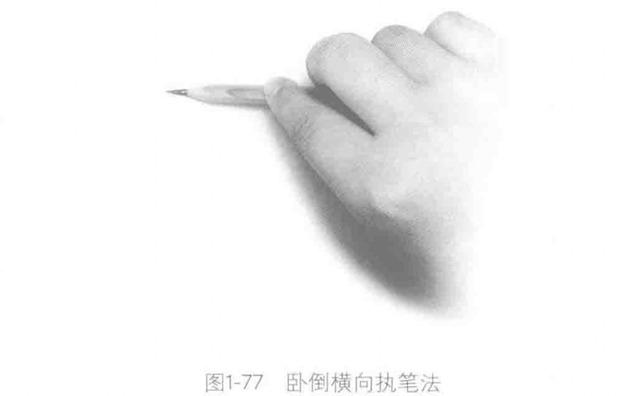 素描怎么拿笔之四:卧倒横向执笔法
