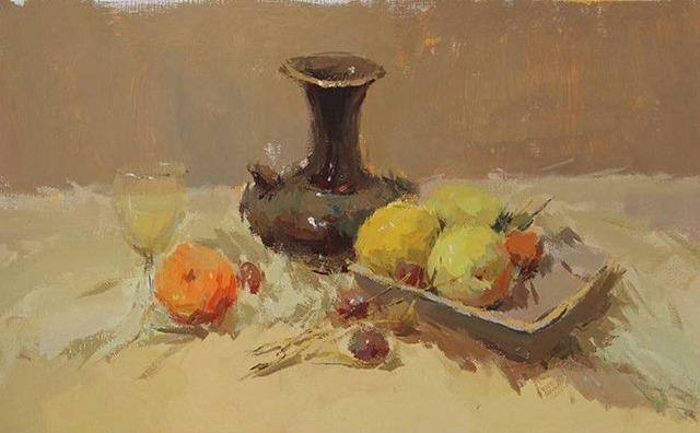 色彩水果罐子组合