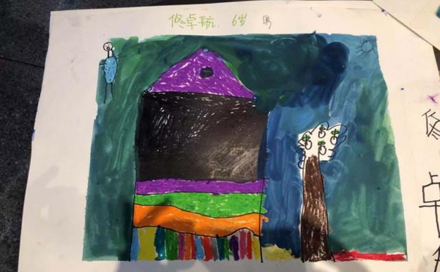 儿童画房子