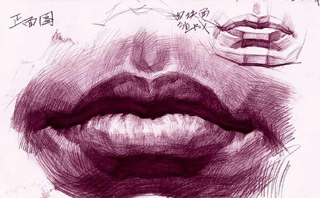 素描嘴巴的画法