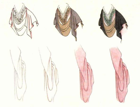 衣袖和大风带的画法