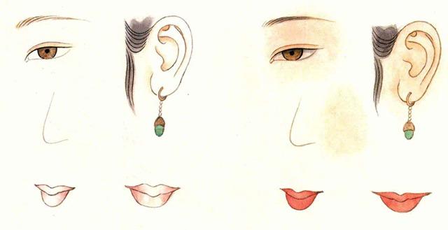 工笔仕女眼耳口鼻的画法