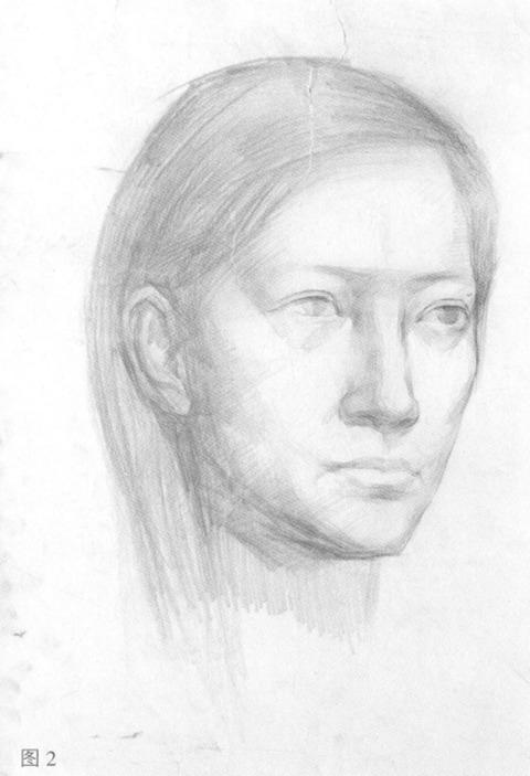 女性人物肖像步骤图二