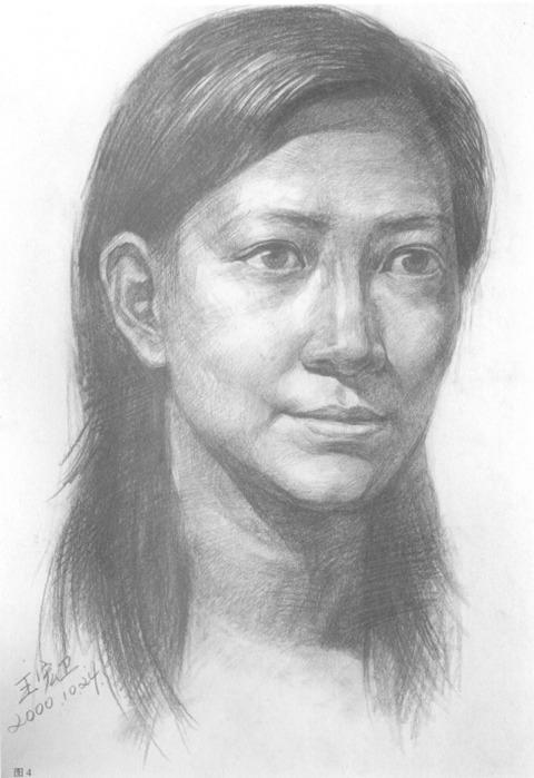 女性人物肖像步骤图四