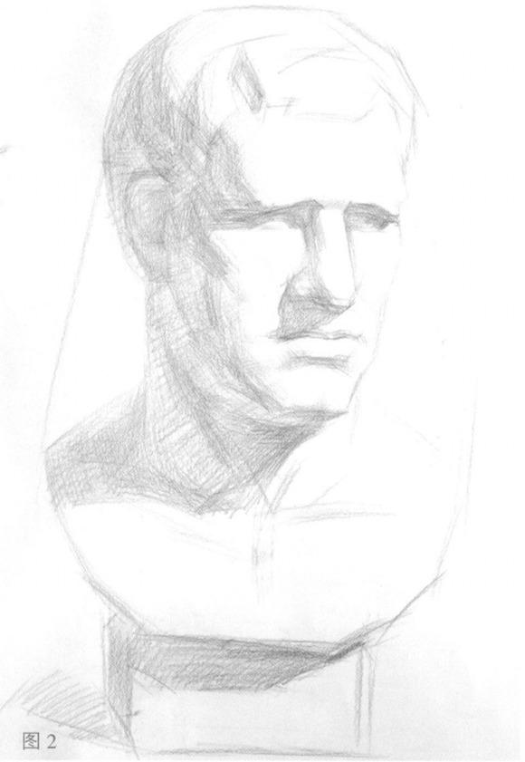 素描石膏头像步骤二