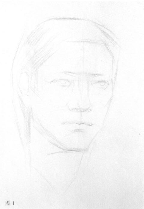 女性人物肖像步骤图一