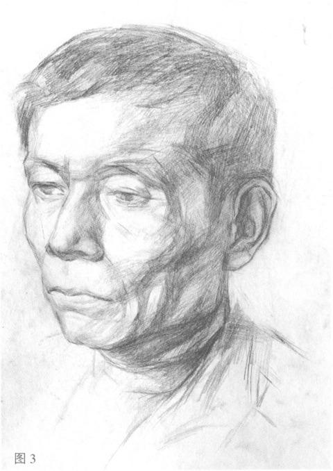 男性人物肖像步骤图三