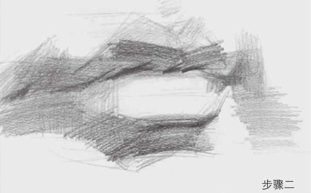 素描嘴巴的画法步骤图二