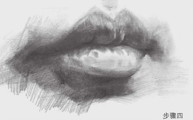 素描嘴巴的画法步骤图四