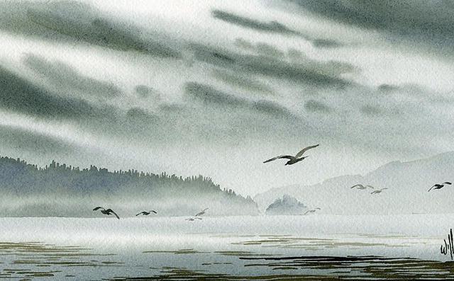 风景水彩画