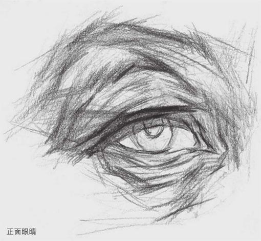 正面素描眼睛的详细画法