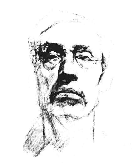 素描老人头像正脸步骤图三
