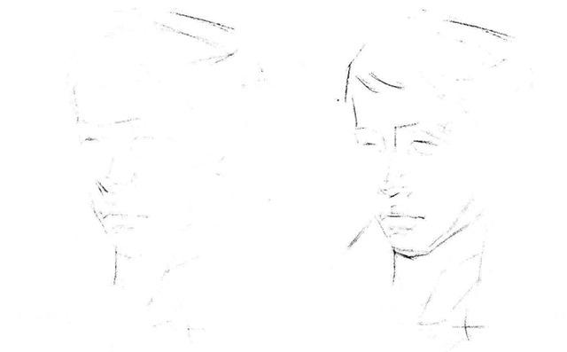 素描人物头像步骤图一