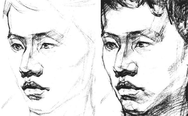 素描人物头像步骤图四