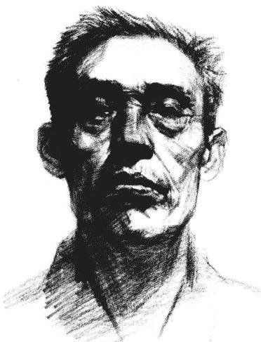 素描老人头像正脸步骤图六