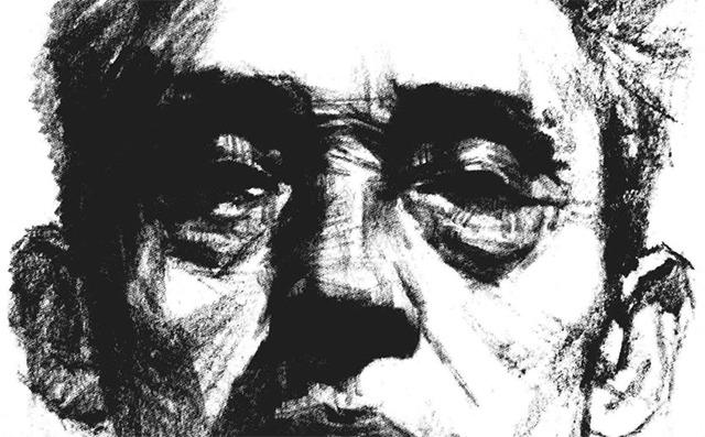 素描老人头像正脸步骤图五