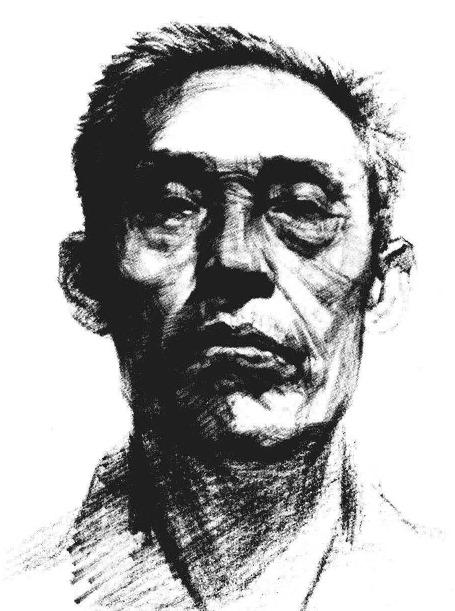 素描老人头像正脸步骤图七
