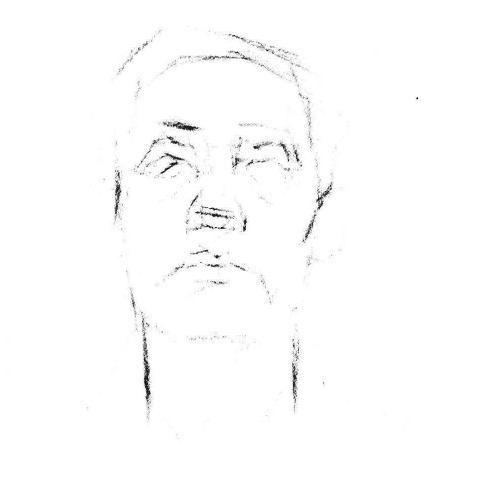 素描老人头像正脸步骤图一