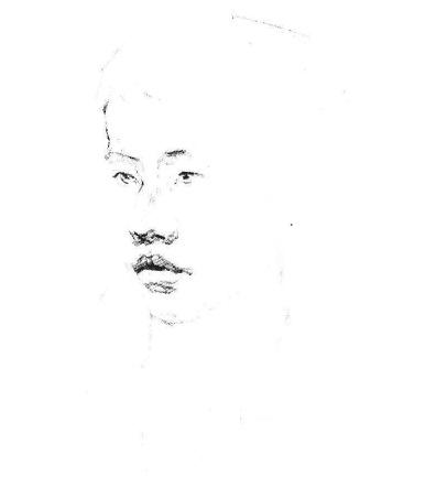 素描人物头像步骤图二