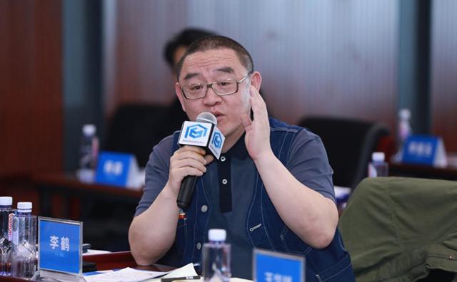 清华大学美术学院党委副书记李鹤发言