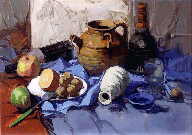 陶罐色彩静物绘画步骤五