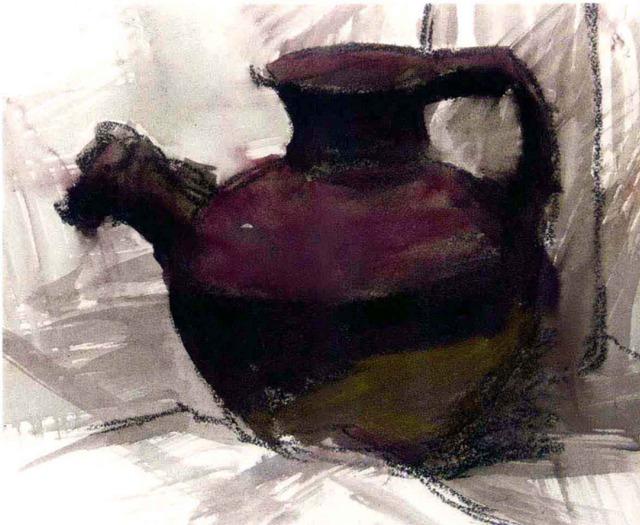 色彩陶罐的画法步骤二