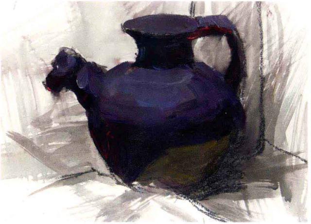 色彩陶罐的画法步骤三