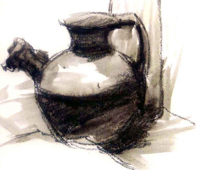 色彩陶罐的画法步骤一